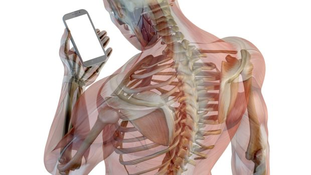 texting muscles posture